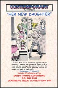 Her New Daughter by Kristi Love and Susan Henkin sandy thomas, mags inc, crossdress, transvestite, transvestism, transgender. tv fiction classics, my son the actress