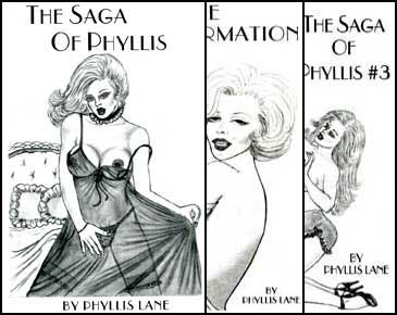 All Three Saga of Phyllis Books by Phyllis Lane mags inc, Reluctant press, crossdressing stories, transgender stories, transsexual stories, transvestite stories, female domination, Phyllis Lane