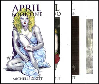 April Book All Four Parts by Michelle Scott mags inc, Reluctant press, crossdressing stories, transgender stories, transsexual stories, transvestite stories, female domination, Michelle Scott