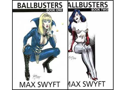 Ballbusters Parts 1 & 2 by Max Swyft mags inc, Reluctant press, crossdressing stories, transgender stories, transsexual stories, transvestite stories, female domination, Max Swyft