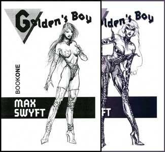 Goldens Boy Books 1 and 2 by Max Swyft mags inc, Reluctant press, crossdressing stories, transgender stories, transsexual stories, transvestite stories, female domination, Max Swyft