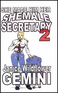 She Made Him Her Shemale Secretary Book 2 eBook by Janice Wildflower Gemini mags, inc, crossdressing stories, transvestite stories, female domination, stories, Janice Wildflower Gemini