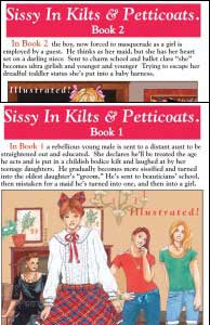 SISSY IN KILTS & PETTICOATS #1 and #2 by Patricia Michelle mags, inc, novelettes, crossdressing, transgender, transsexual, transvestite, feminine, domination, story, stories, fiction